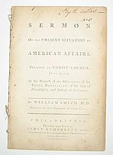 (AMERICAN REVOLUTION.) Smith, William. A Sermon on the Present Situation of American Affairs.