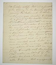 (AMERICAN REVOLUTION.) Willett, Marinus. Affidavit concerning a promise made to the Oneida Indians in 1781.