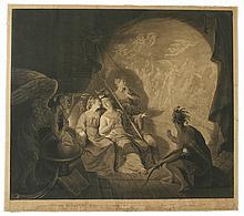 (AMERICAN REVOLUTION--PRINTS.) Dixon, John; artist and engraver. The Oracle, Representing Britannia, Hibernia, Scotia, & America,