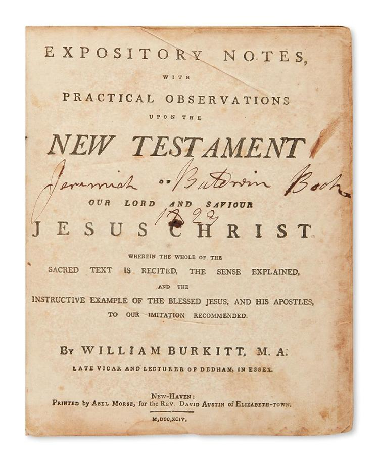 Bible In English New Testament Burkitt William Editor