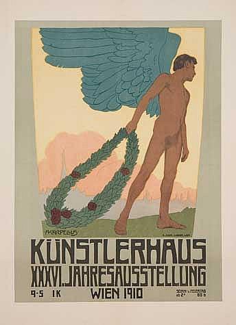 ADOLF KARPELLUS (1869-1919). KÜNSTLERHAUS. 1910. 24x17 inches, 62x45 cm. K. Hofl. J. Weiner, Vienna.