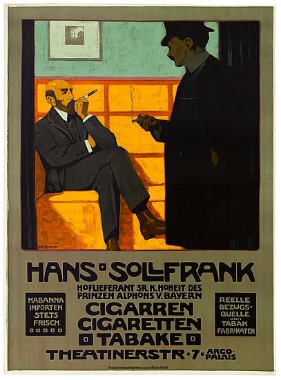 FRITZ REHM (1871-1928). HANS SOLLFRANK. 1908. 49x35 inches, 124x91 cm. Druckereien und Kunstanstalten, Munich.