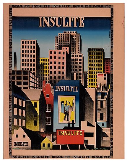 IB. ANDERSEN (1907-1969). INSULITE. 1931. 41x32 inches, 105x82 cm.