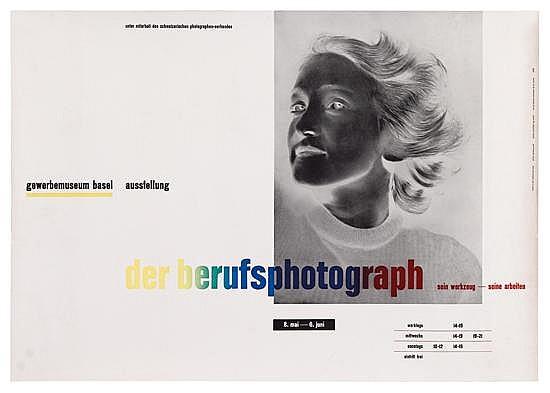 JAN TSCHICHOLD (1902-1974). DER BERUFSPHOTOGRAPH. 1938. 25x35 inches, 63x91 cm. Benno Schwabe & Co., Basel.