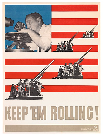 LEO LIONNI (1910-1999). KEEP 'EM ROLLING! Group of 4 posters. 1941. Each approximately 40x29 inches, 102x75 cm. U.S. Government Printin
