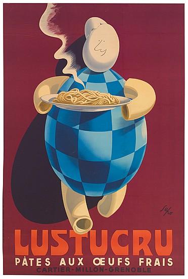SEPO (SEVERO POZZATI, 1895-1983). LUSTUCRU. 1951. 59x38 inches, 150x99 cm. Pub. Idea (St. Ouen) Coudert et Dino.