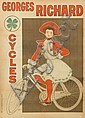 FERNAND FERNEL (1872-1934). CYCLES GEORGES RICHARD. 55x29 inches, 139x75 cm. J. Van Gindertaele, Paris., Fernand Fernel, Click for value