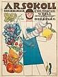 BERTOLD LÕFFLER (1874-1960). ARSOKOLL. 1925. 27x19 inches, 69x50 cm. Secession, Vienna., Bertold Loffler, Click for value