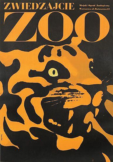 WALDEMAR SWIERZY (1931-  ). ZOO ZWEIDZAJCIE. 1967. 38x26 inches, 99x67 cm