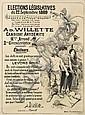 ADOLPHE WILLETTE (1857-1926). ÉLECTIONS LÉGISLATIVES. 1889. 61x45 inches, 155x114 cm. Oraff, Paris., Adolphe Willette, Click for value