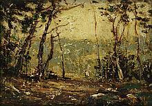 RALPH BLAKELOCK Wood's Edge.