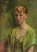 GLADYS LEE WILES Portrait of a Woman in a Green Blouse.