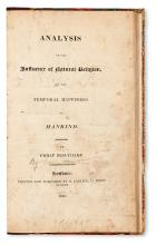 [BENTHAM, JEREMY; and GROTE, GEORGE. ] Analysis of the Influence of Natural Religion, on the Temporal Happiness of Mankind.  1822