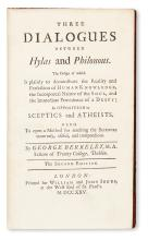 BERKELEY, GEORGE.  Three Dialogues between Hylas and Philonous.  1725