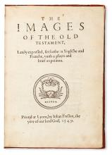 BIBLE ILLUSTRATIONS.  Holbein, Hans. The Images of the Old Testament.  1549