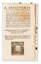 CECIL. A Discoverye of the Errors committed and Iniuryes don to his Ma[jesty] off Scotlande [etc.].  1599 + DUPERCHE. La Declaration.