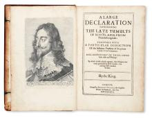 CHARLES I, King of England.  [Balcanquhall, Walter.] A Large Declaration concerning the Late Tumults in Scotland.  1639