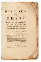 GAMES.  Lambe, Robert. The History of Chess, together with Short and Plain Instructions.  1764