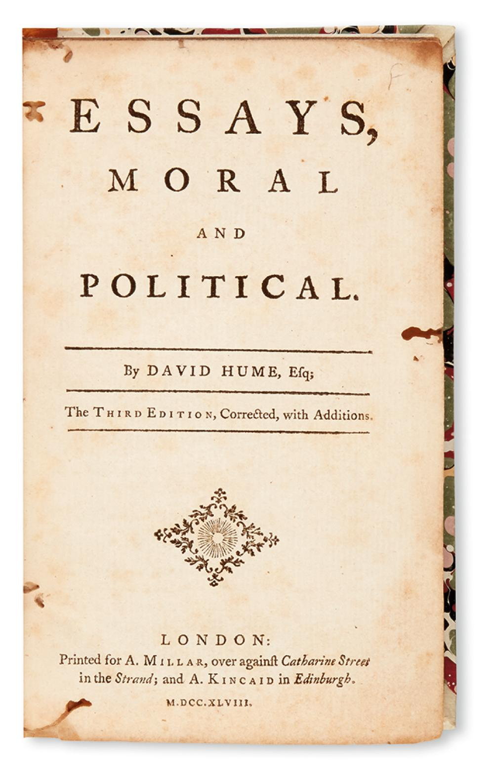 david hume essays moral political and literary sparknotes This edition contains the thirty-nine essays included in essays, moral, political, and literary that made up volume i of the 1777 posthumous essays and treatises on several subjects it also includes ten essays that were withdrawn or left unpublished by hume for various reasons .