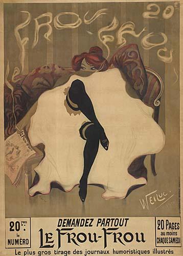 WEILUC (LUCIEN HENRI WEIL) (1873-1947) LE FROU FROU. 1900. 61x44 inches. La Lithographie Nouvelle, Asnieres.