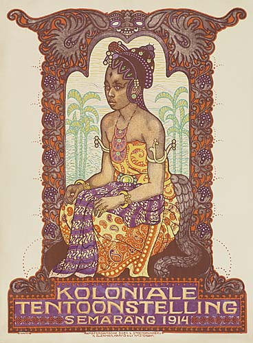 ALBERT HAHN (1877-1918) KOLONIAL TENTOONSTELLING. 1914. 44x32 inches. Ellerman, Harms & Co., Amsterdam.