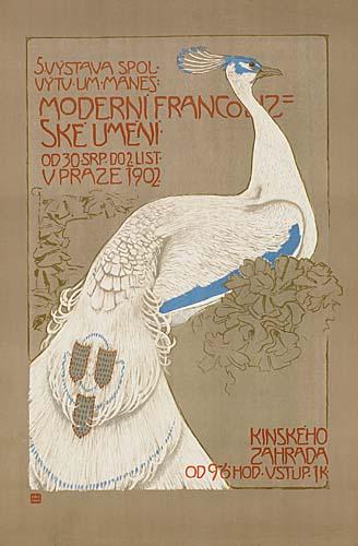 JAN PREISLER (1872-1918) MODERNI FRANCOUZSKE UMENI. 1902. 43x28 inches. Unie, Prague.