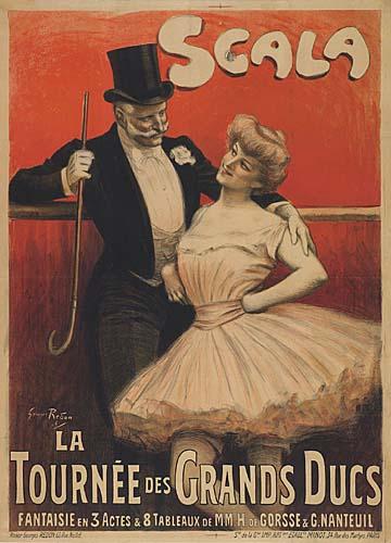 GEORGES REDON (1869-1943) SCALA / LA TOURNE DES GRANDS DUCS. 1906. 50x36 inches. Minot, Paris.
