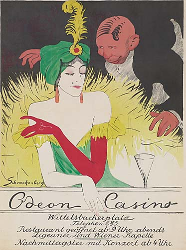 WALTER SCHNAKENBERG (1880-1961) ODEON CASINO. 1911. 47x35 inches. Wolf, Munich.