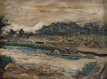 JOSEPH DELANEY (1904 - 1981) Untitled (River Landscape).