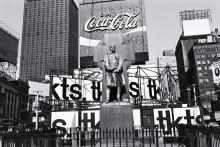 LEE FRIEDLANDER (1934 - ) Father Duffy, Times Square, New York City.