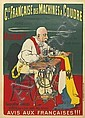 EUGENE OGÉ (1869-1936). CIE. FRANÇAISE DES MACHINES A COUDRE. 1898. 51x37 inches, 130x94 cm. P. Vercasson & Cie., Paris., Eugène  Ogé  , Click for value