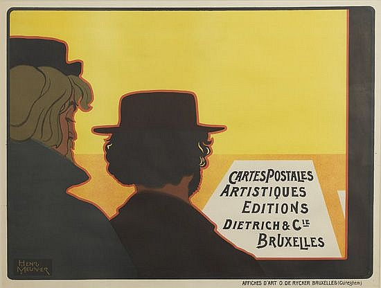 HENRI MEUNIER (1873-1922). CARTES POSTALES ARTISTIQUES / EDITIONS DIETRICH & CIE. 1898. 28x37 inches, 71x94 cm. Rycker, Bruxelles.