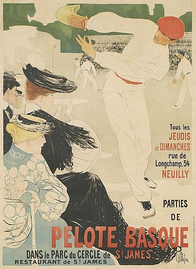 CLEMENTINE-HELENE DUFAU (1869-1937). PELOTE BASQUE. Circa 1903. 58x42 inches, 148x108 cm. G. de Malherbe, Paris.