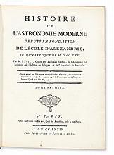 BAILLY, JEAN-SYLVAIN. Histoire de l'Astronomie Moderne.  3 vols.  1779-85