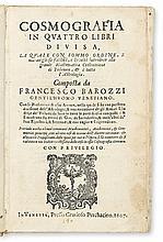 BAROZZI, FRANCESCO. Cosmografia.  1607