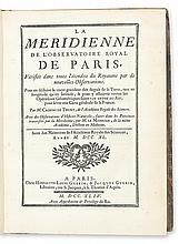 CASSINI DE THURY, CÉSAR-FRANÇOIS. Le Méridienne de l'Observatoire Royal de Paris.  1744