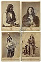 JACKSON, WILLIAM HENRY (1843-1942) Group of 8 cabinet cards of Native-American subjects., William Henry Jackson, Click for value