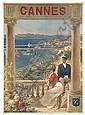 ALCIDE ROBAUDI (1850-1928). CANNES. Circa 1910. 41x29 inches, 104x75 cm. Affiches Robaudi, Cannes., Alcide Robaudi, Click for value