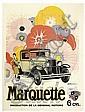 ADRIAN BARRÉRE (1877-1931). BUICK / MARQUETTE. 1929. 62x47 inches, 159x120 cm. Philippe de Girard, Paris., Adrian Barrere, Click for value
