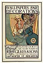CONRAD H. LEIGH (1883-?). WALLPAPERS & DECORATIONS / JOHN GILKES & SONS. 46x31 inches, 119x79 cm. J. J. Keliher & Co., Ltd., London., Conrad Leigh, Click for value