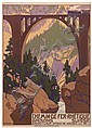 WALTHER KOCH (1875-1915). CHEMIN DE FER RHÉTIQUE. 1909. 40x28 inches, 103x73 cm. J. E. Wolfensberger, Zurich., Walter (1875) Koch, Click for value