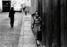 "PAULIN, FRANK (1926- ) ""Cuba"" (children in masks)."