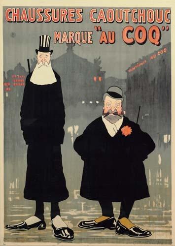 GUS BOFA (GUSTAVE BLANCHOT) (1883-1968) CHAUSSURES CAOUTCHOUC / MARQUE