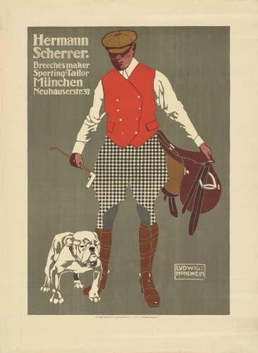 LUDWIG HOHLWEIN (1874-1949) HERMANN SCHERRER. 1907.