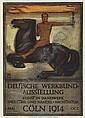 PETER BEHRENS (1868-1940) DEUTSCHE WERKBUND AUSSTELLUNG. 1914., Peter Behrens, Click for value