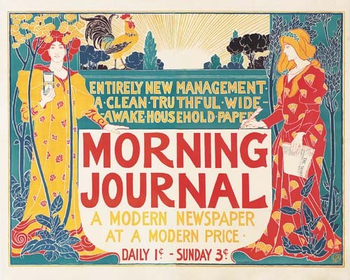 LOUIS J. RHEAD (1858-1926) MORNING JOURNAL. 1895.