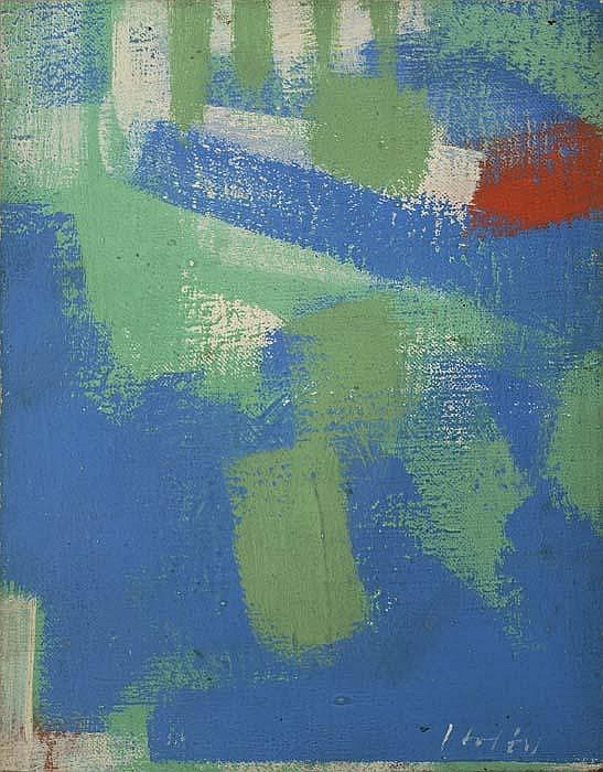 CARL HOLTY Abstract Composition.
