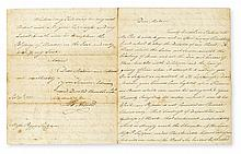 (AMERICAN REVOLUTION.) BENEDICT ARNOLD. Autograph Letter Signed,