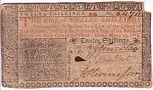 (AMERICAN REVOLUTION.) JOHN HART. Colonial banknote Signed, as Member of the First Provincial Congress of New Jersey,
