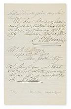 BEAUREGARD, PIERRE G.T. Autograph Letter Signed, twice (